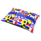 Colourful Nautical Signal Flags Royal Name Pet Bed