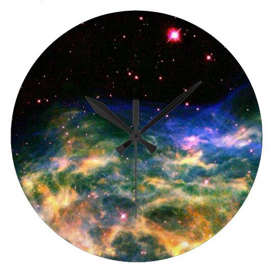 Colourful Nebula Wall Clock