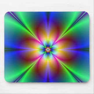 Colourful Neon Daisy Mouse Pad