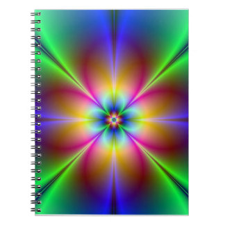 Colourful Neon Daisy Notebook