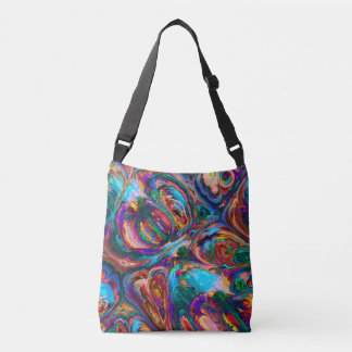 Colourful Oil Paint Swirl Fractal Tote Bag