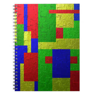 Colourful one spiral notebook