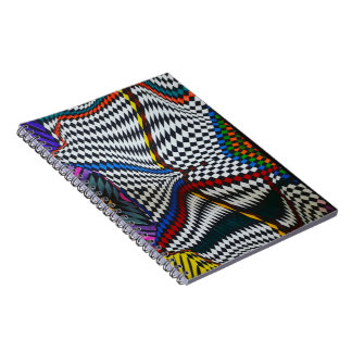 Colourful Optical Illusion Notebook