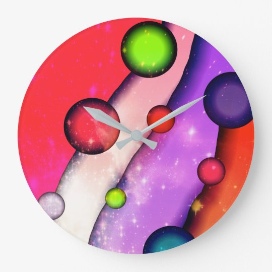 "Colourful Original Wall Clock ""Stargazer"""