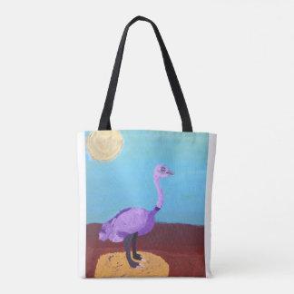 Colourful ostrich tote bag