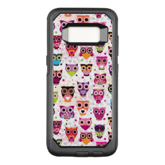 Colourful Owl Pattern For Kids 2 OtterBox Commuter Samsung Galaxy S8 Case