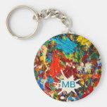 Colourful Paint Splatter Monogram