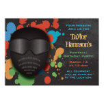 Colourful Paintball Birthday Party Invitation