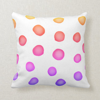 colourful painted dots pillow original  design