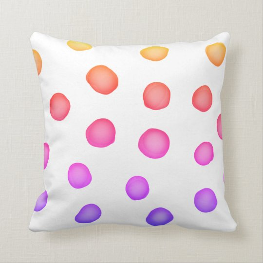 colourful painted dots pillow original  design