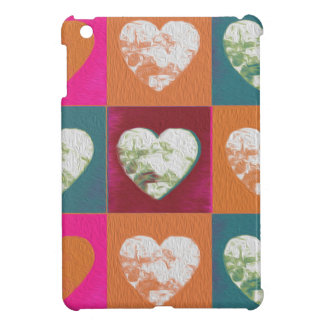 Colourful painted valentine hearts case for the iPad mini