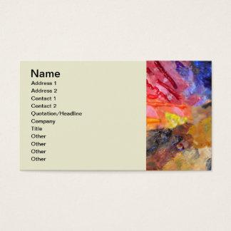 Colourful Painter's Palette Business Card