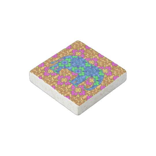 Colourful Paisley Elephant Magnet Stone Magnets