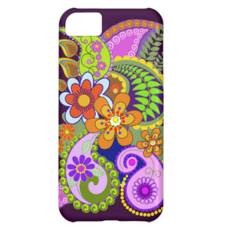 Colourful Paisley Patterns and Flowers Cover For iPhone 5C