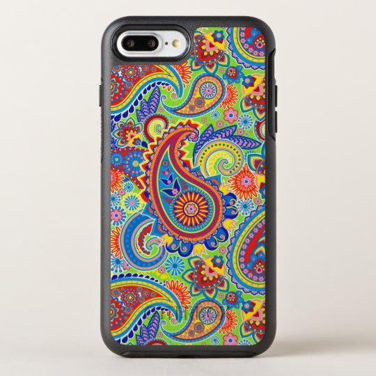 Colourful Paisley Seamless Pattern OtterBox Symmetry iPhone 8 Plus/7 Plus Case