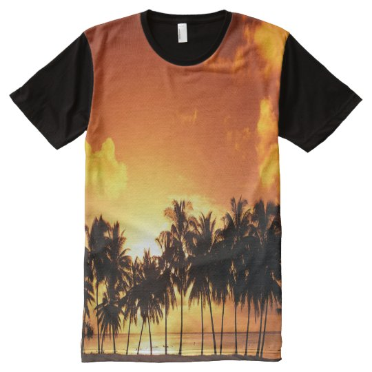 Colourful Palm Tree Sunset T-Shirt