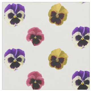 Colourful Pansies Cotton Fabric