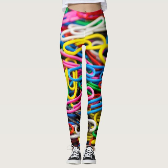 Colourful Paper Clips Leggings