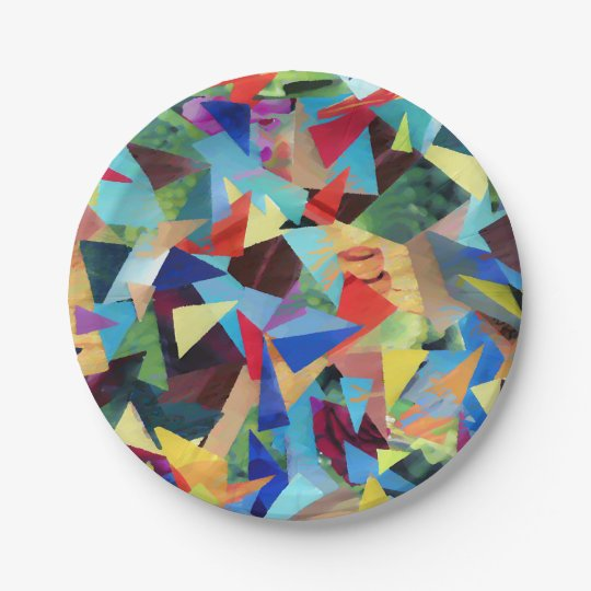 colourful paper plate