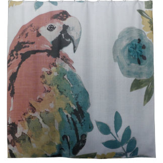 Colourful Parrot Shower Curtain