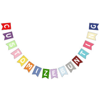 Colourful Party Bunting Custom Banner