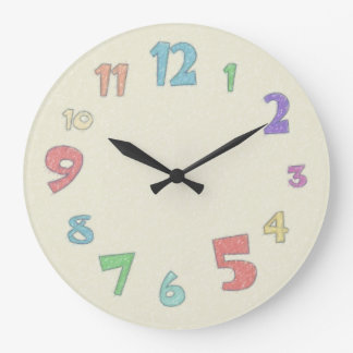 Colourful Pastel Large Clock