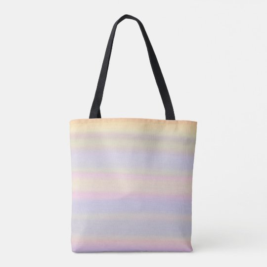 Colourful pastel watercolor painting tote bag