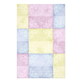 Colourful Pastels Patchwork Stationery Design