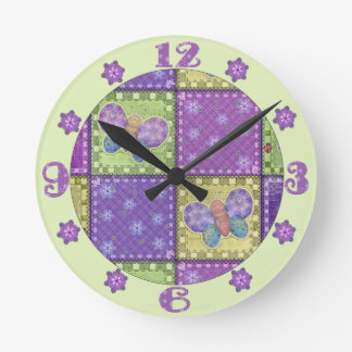 Colourful Patchwork Wall Clock