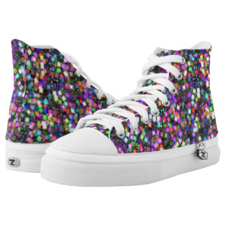 Colourful Patchwork Zipz High Top Shoes US-Women