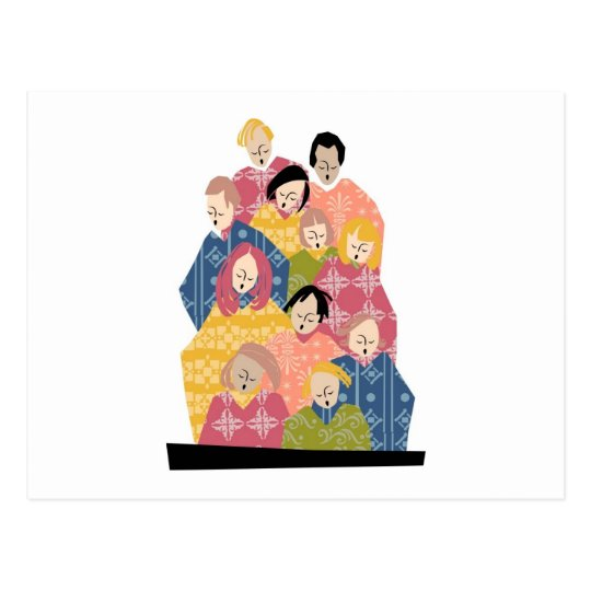 Colourful Pattern Choir Postcard