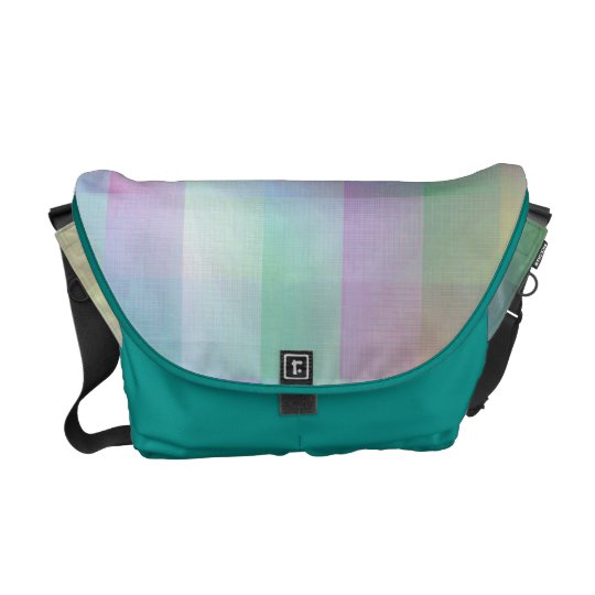 Colourful pattern commuter bag