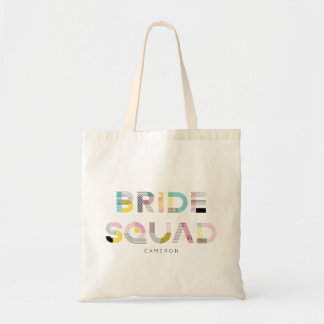 Colourful Pattern Typography Modern Bride Squad