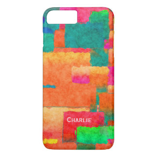 Colourful Pattern with Personalised Name iPhone 8 Plus/7 Plus Case