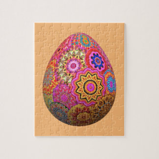 Colourful patterned Easter egg Jigsaw Puzzle