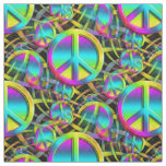 Colourful PEACE seamless pattern + your ideas Fabric
