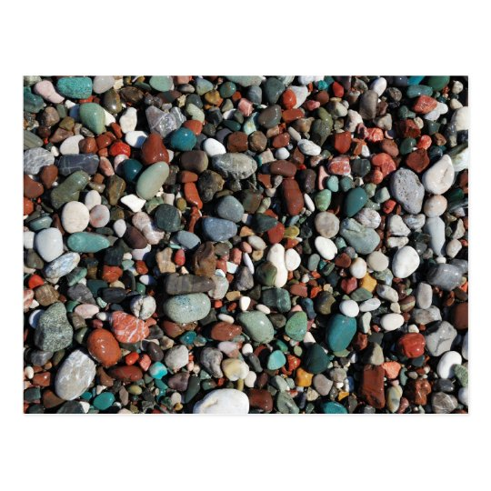 Colourful pebbles Postcard