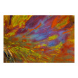 Colourful Petrified Wood close-up Poster