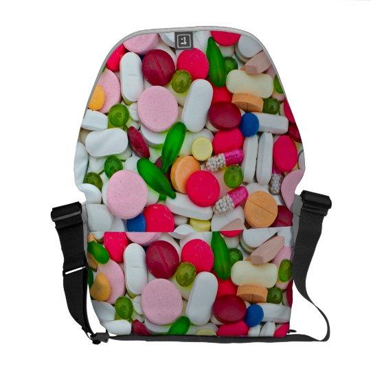 Colourful pills bag commuter bag