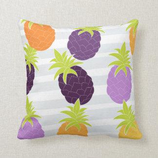 Colourful pineapple design throw pillow
