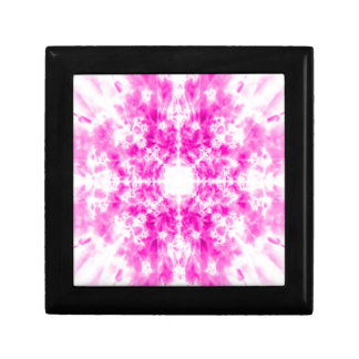 Colourful pink kaleidoscope pattern gift box