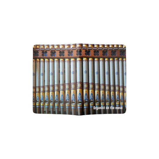 Colourful pipe organ passport holder