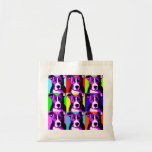 Colourful Pit Bull Graphic Reusable Tote Bag