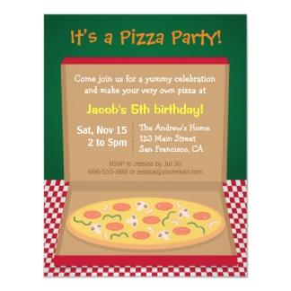 pizza party invite template