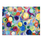 Colourful Planets (abstract expressionism) Postcard