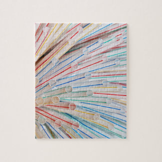 Colourful Plastic Drinking Straws Jigsaw Puzzle
