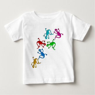 Colourful, playful lizards baby T-Shirt