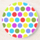 Colourful Polka Dots Coaster
