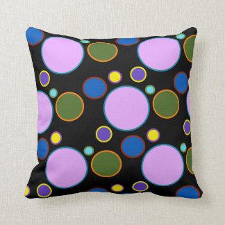 Colourful Polka Dots Throw Pillow