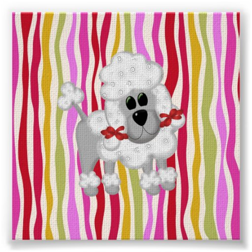 Colourful Poodle Colossal Poster